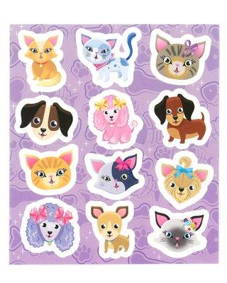 Traktatie stickers hondjes en poesjes