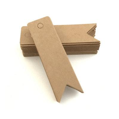 Kraft label vaantje 2 x 7 cm 10 stuks