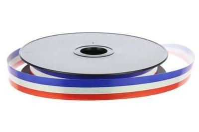 Krullint nederlandse vlag rood wit blauw 19 mm breed