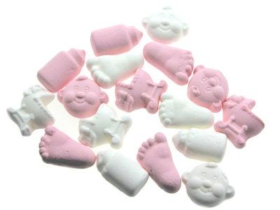 Geboortesnoepjes roze wit