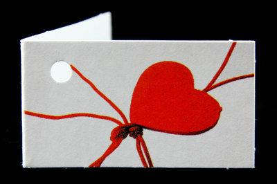 Traktatie kaartje gelukspoppetjes hartje
