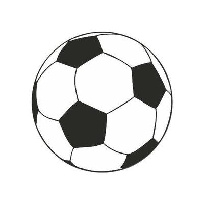 Traktatie stickers voetbal 10 stuks
