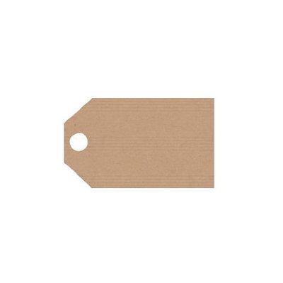 Kraft labels 2.5 x 5.5 cm 10 stuks