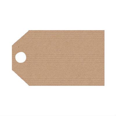 Kraft label 5 x 9 cm 10 stuks