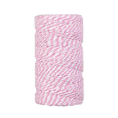 Bakkerstouw roze wit 90 meter