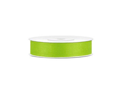 Grosgrain lint 15 mm breed lime groen