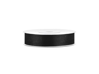 Grosgrain lint 15 mm breed zwart