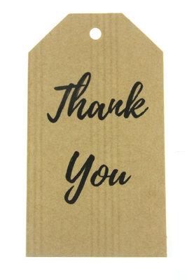 Kraft label xl Thank you