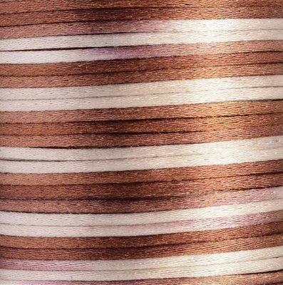 Satijnkoord 2 mm bruin tinten verloop