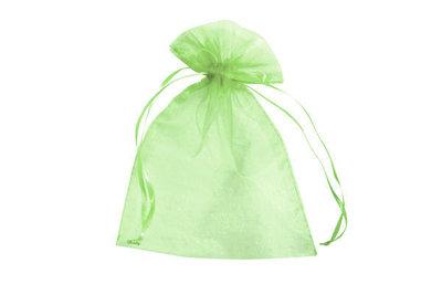 Organza zakje 7,5 x 10 cm Lime groen